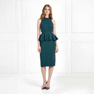Rachel Zoe Karyn Stretch Crepe Peplum Dress