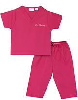 Princess Linens Hot Pink Personalized Scrubs - Infant & Toddler