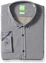 HUGO BOSS Boss Green Men's C-Baldasar Vichy Check Button Down Shirt