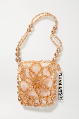 Susan Fang Bubble Flower Beaded Tote - Dark brown