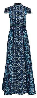 Alice + Olivia Women's Nidia Embellished Mockneck Gown - Size 0