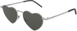 Saint Laurent Lou Lou Heart-Shaped Metal Sunglasses