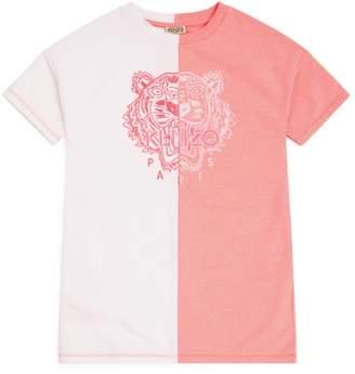 Kenzo Icon Tiger Colour-Block T-Shirt Dress