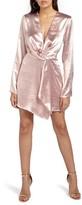 Missguided Women's Satin Wrap Minidress