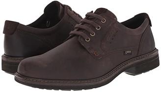 Ecco Turn GTX(r) Plain Toe Tie (Mocha/Mocha) Men's Plain Toe Shoes