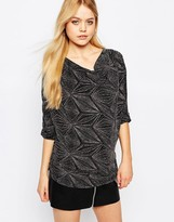 Ichi Lui Abstract Print Top