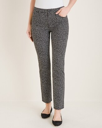 So Slimming Dot-Print Girlfriend Ankle Jeans