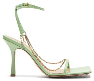 Bottega Veneta Chain-strap Leather Sandals - Light Green