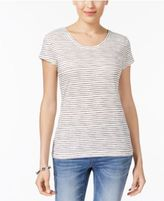 Style&Co. Style & Co Striped T-Shirt, Created for Macy's