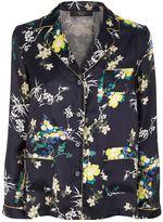 Max Mara Floral Silk Pyjama Shirt