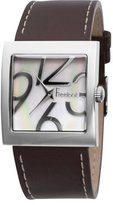 Freelook Women's HA1471-9B Square Case Leather Band Watch