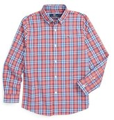 Vineyard Vines Boy's 'Gilbert's Pond' Plaid Sport Shirt