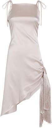 Cult Gaia Giselle Asymmetric Silk Dress