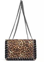 Jessica Simpson Zamia Velvet Whip-Stitched Leopard-Print Convertible Cross-Body Bag