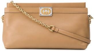 Gucci GG logo plaque clutch bag