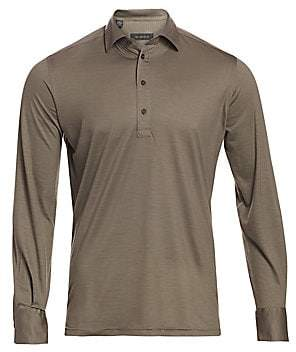 Saks Fifth Avenue Virgin Wool Long-Sleeve Polo