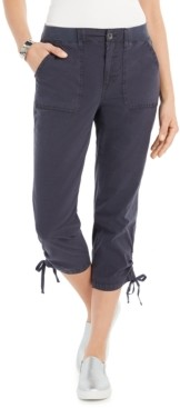 Style&Co. Style & Co Tie-Hem Capri Pants, Created for Macy's