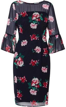 Gina Bacconi Fayla Floral Chiffon Dress