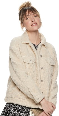 Women's POPSUGAR Sherpa Trucker Jacket