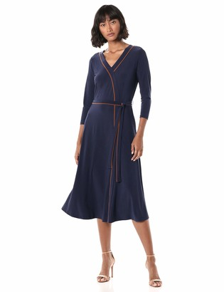 Chaus Women's 3/4 Sleeve Wrap Dress