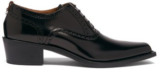 Burberry Buchanan Patent-leather Derby Shoes - Black