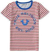 True Religion Big Boys 8-20 Horizontal-Stripe Short-Sleeve Tee
