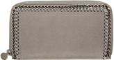 Stella McCartney Grey Falabella Continental Zip Wallet