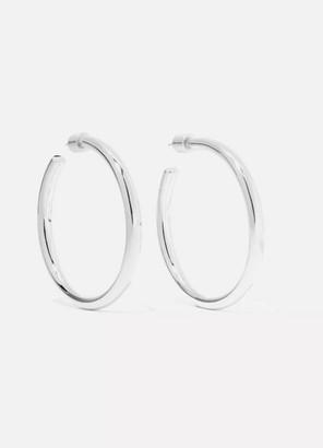 Jennifer Fisher Baby Lilly Silver-plated Hoop Earrings