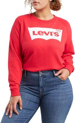 Levi's Plus Relaxed-Fit Graphic Crew Sweatshirt