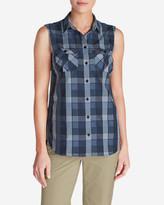 Eddie Bauer Women's Mountain Textured Sleeveless Shirt