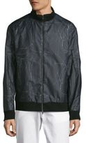 Theory Ronin Inverno Printed Bomber Jacket