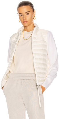 Moncler Cardigan Tricot Jacket in White | FWRD