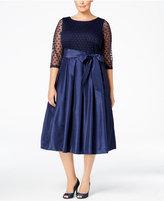 Jessica Howard Plus Size Illusion A-Line Dress