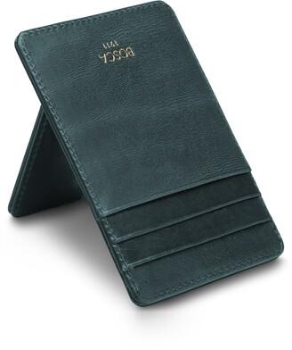 Bosca Aged Leather Front Pocket Money Clip Wallet