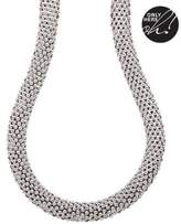 Lord & Taylor 14Kt. White Gold Necklace with Diamond and Sapphire Clasp