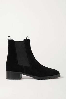 AEYDĒ Karlo Suede Chelsea Boots - Black