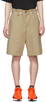 Y-3 Khaki Canvas Workwear Shorts
