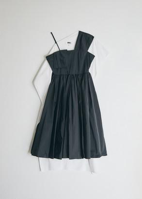MM6 MAISON MARGIELA Women's One Shoulder Dress in Black, Size 40 | 100% Cotton