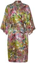 Genevie Magnolia Silk Kimono Robe