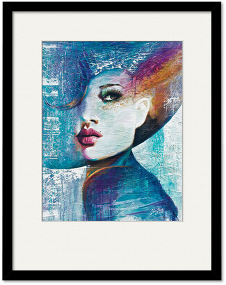 Courtside Market Wall Decor Girl In Blue Gallery Collection Framed Art