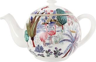 Gien Jardin Du Palais Flamingo Teapot