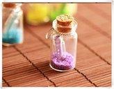 Flowers Message in a Bottle necklace. Miniature bottle glass vial pendant Sea Ocean necklace cute