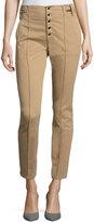 A.L.C. Rowan High-Waist Skinny Cotton Pants