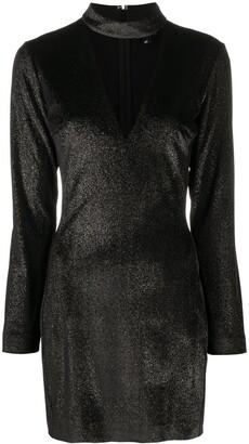 Just Cavalli Long-Sleeve Mini Dress