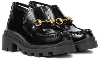 Gucci Kids Horsebit leather loafers