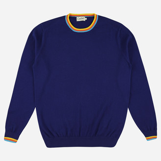 Castart - Concord Rainbow Stripe Lightweight Knit - S / Blue