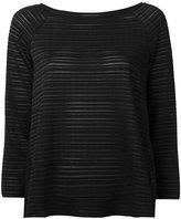 Armani Collezioni sheer striped jumper - women - Spandex/Elastane/Viscose - 42
