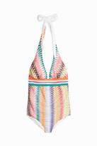 Missoni Diamond-Knit Halterneck Swimsuit