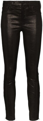 J Brand Mid-Rise Skinny-Fit Trousers