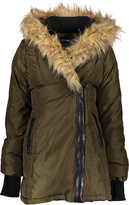 Steve Madden Olive Faux Fur-Accent Puffer Anorak